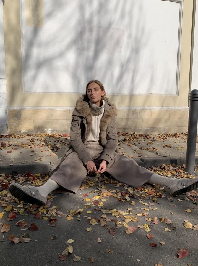 Парка из кашемира Loro Piana с отделкой мехом куницы и утеплением